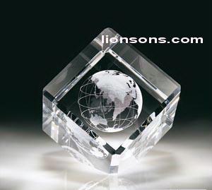 3d Laser Engraved Cube Beveled Crystal Cube 3d Crystal