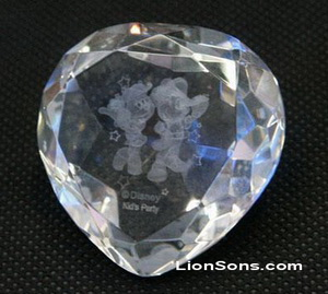 Custom Engraving Personalised Large Glass Diamond Paperweight