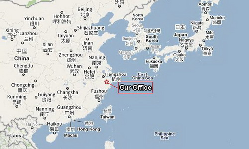 our location in china