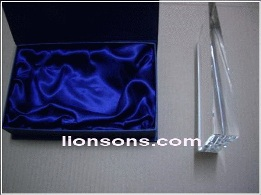 crystal satin lined gift box packing