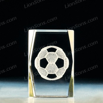 Optical Crystal Paperweight Engraved Glass Paperweight