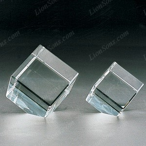 optical crystal cube with beveled edged