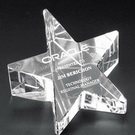 optic crystal star paper weight